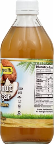 Dynamic Health Organic Coconut Vinegar with Mother Perspective: right