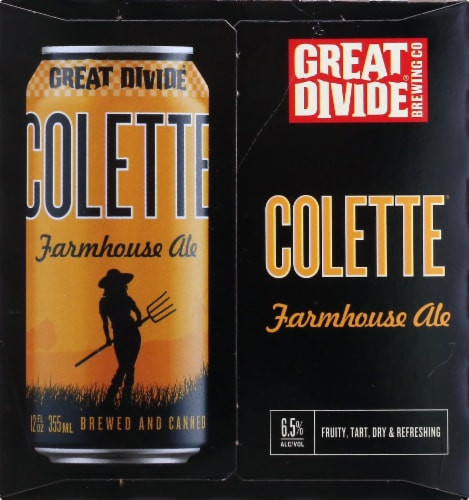 Great Divide Brewing Co. Colette Farmhouse Ale Perspective: right