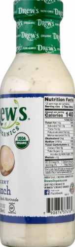 Drew's Organics Creamy Ranch Dressing Perspective: right