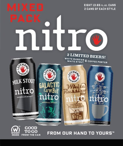 Left Hand Brewing Co. Nitro Mix Beer 6 Cans Perspective: right