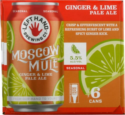 Left Hand Brewing Co. Found Moscow Mule Ginger & Lime Pale Ale Perspective: right