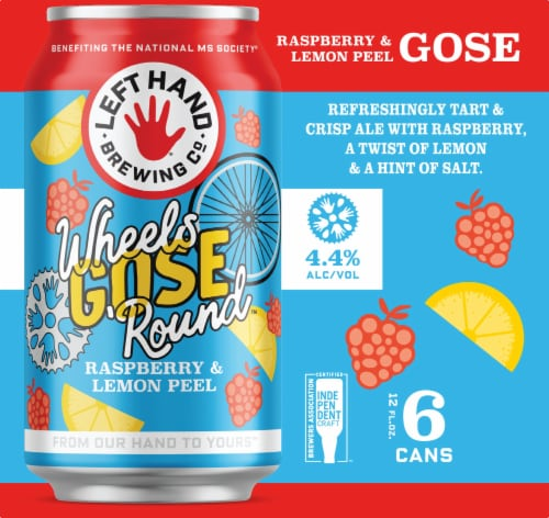 Left Hand Brewing Co. Wheels Gose 'Round Beer 6 Cans Perspective: right