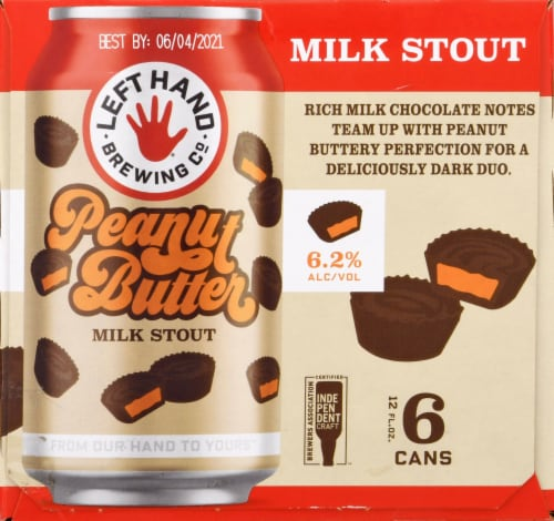 Left Hand Brewing Co. Peanut Butter Milk Stout Perspective: right