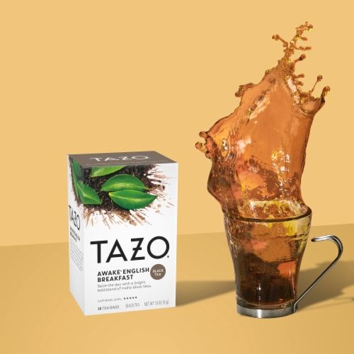 Tazo Awake English Breakfast Black Tea Bags Perspective: right