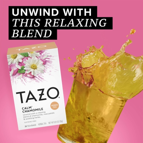 Tazo Calm Chamomile Herbal Tea Bags Perspective: right