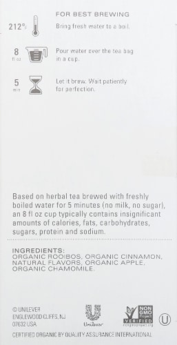 Tazo Organic Apple Red Tea Perspective: right