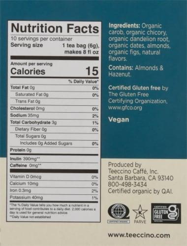 Teeccino® Dandelion Caramel Nut Tee Bags Perspective: right