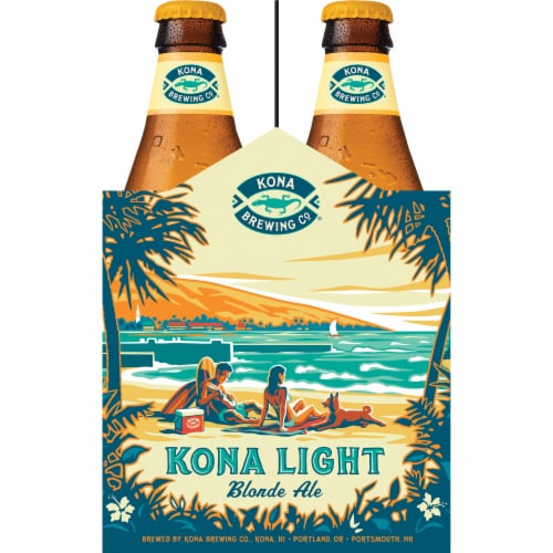 Kona Brewing Co. Kona Light Blonde Ale Perspective: right