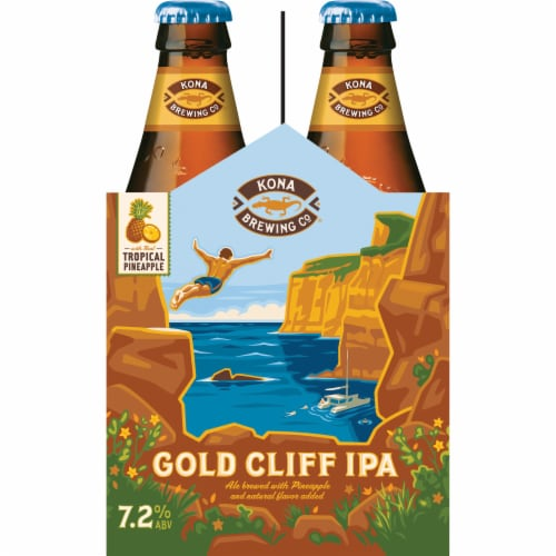 Kona Brewing Co. Tropical Pineapple Gold Cliff IPA Perspective: right