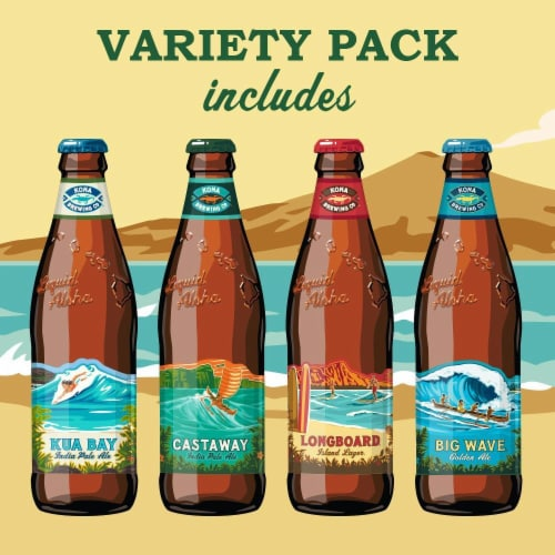 Kona Brewing Co. Island Hopper Variety Pack Perspective: right