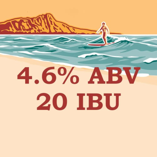 Kona Brewing Co. Longboard Island Lager Perspective: right