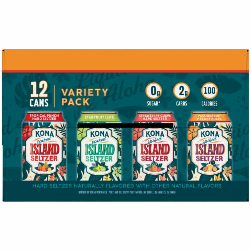 Kona Brewing Co. Spiked Island Seltzer Variety Pack Perspective: right