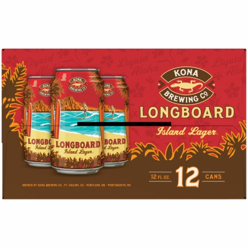 Kona Brewing Co. Longboard Lager Beer Perspective: right
