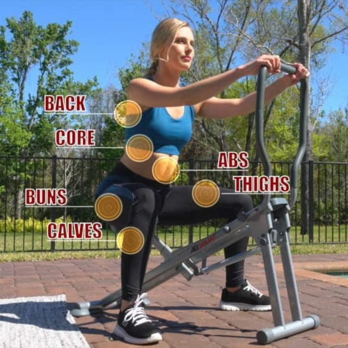 Star Uno Wellness Ab Squat Fitness Machine Home Gym Workout Equipment, Silver Perspective: right