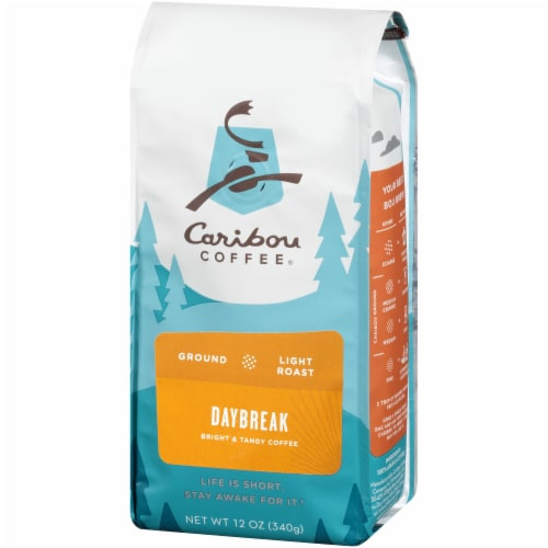 Caribou Daybreak Morning Blend Light Roast Ground Coffee Perspective: right