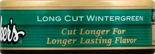 Stoker's Long Cut Wintergreen Snuff Perspective: right