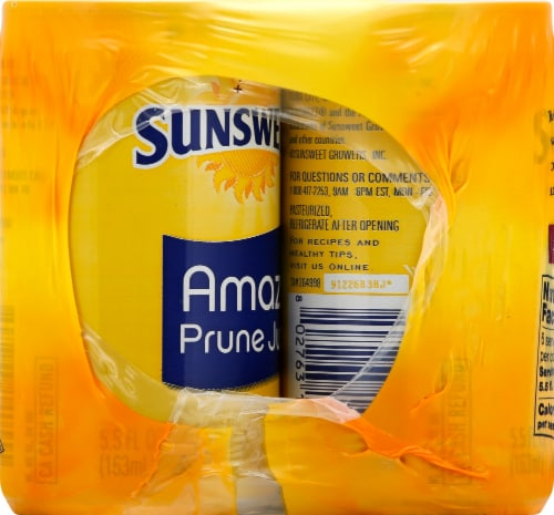 Sunsweet Amazin Prune Juice 6 Count Perspective: right