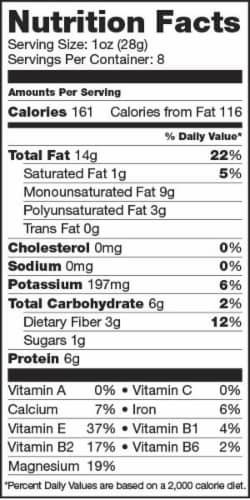 Sunfood Raw Organic Heirloom Almonds Perspective: right