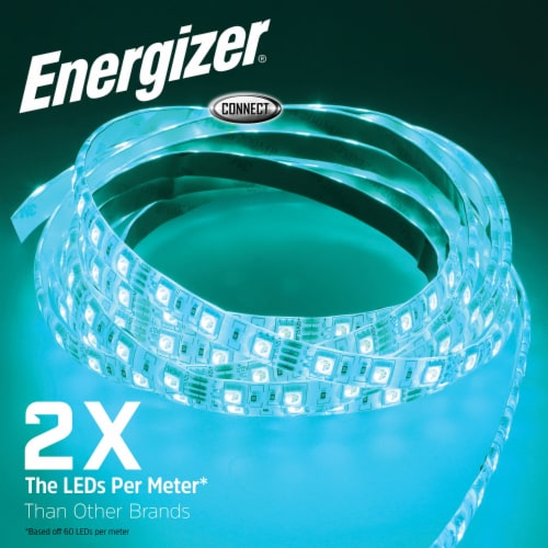 Energizer Connect EOS2-1001-WHT Smart Multicolor LED Light Strip, 16.4 Feet Perspective: right