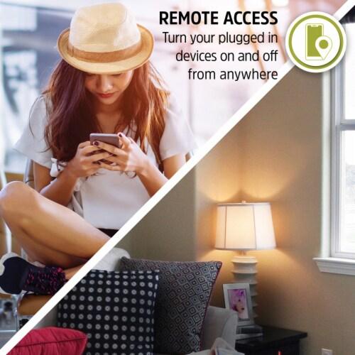 Energizer Connect EIX3-1003-WHT 15-Amp Smart Wi-Fi Plug (Single) Perspective: right