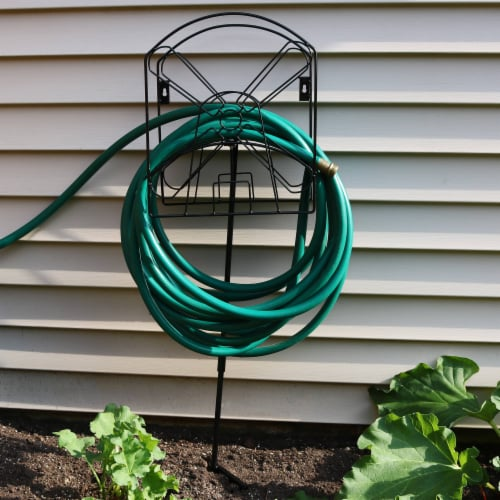 Sunnydaze Metal Garden Hose Stand with Classic Dutch Windmill Design - 42-Inch Perspective: right