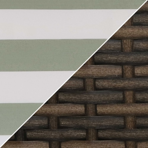Sunnydaze Kenmare 4-Piece Patio Furniture Set - Rattan and Acacia with Cushions Perspective: right