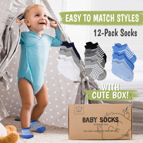 12-Pack Baby Socks (12-36 months) Perspective: right