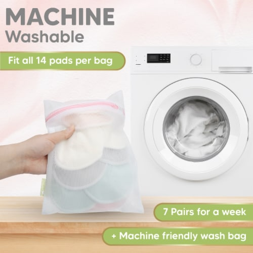 "Organic Bamboo Nursing Pads (Pastel Touch Lite, Large 4.8"") Perspective: right"