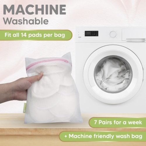 "COMFY Organic Bamboo Nursing Pads (Soft White, Medium 3.9"") Perspective: right"
