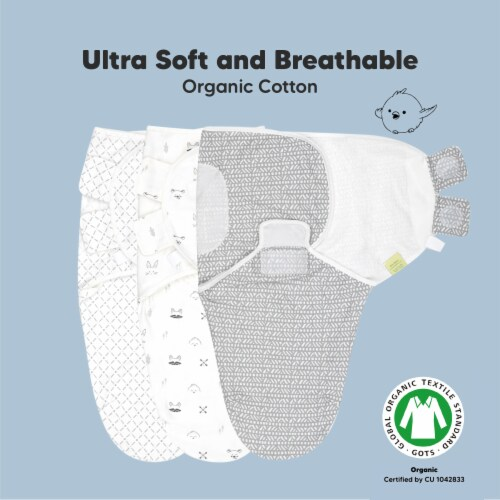 3-Pack SOOTHE Swaddle Wraps (Nordic) Perspective: right