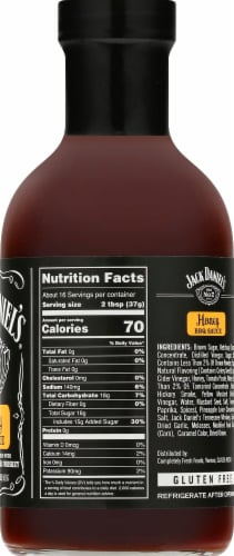 Jack Daniel's Old No. 7 Honey BBQ Sauce Perspective: right