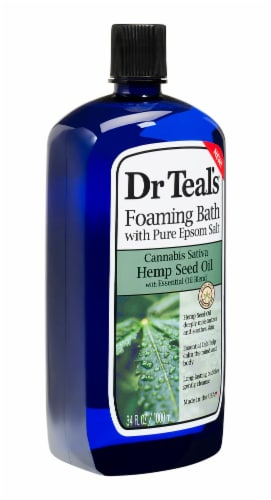 Dr Teal's Hemp Seed Oil & Pure Epsom Salt Foaming Bath Perspective: right