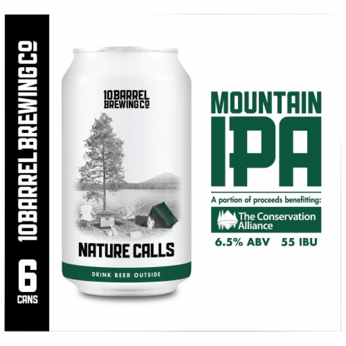 10 Barrel Brewing Nature Calls Mountain IPA Beer Perspective: right