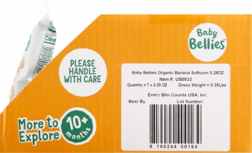 Little Bellies Baby Bellies Organic Banana Softcorn Snack Perspective: right