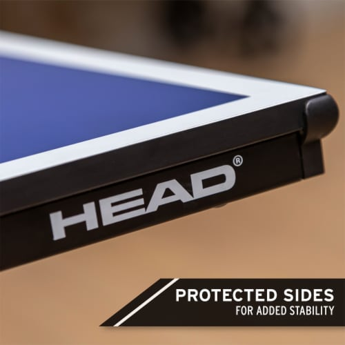 HEAD 1-1-33012-DS 12 Millimeter Surface Match Point Ping Pong Table with Net Perspective: right