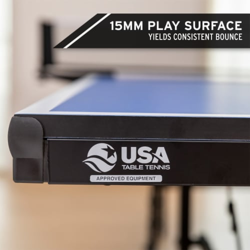 HEAD 15mm Surface Grand Slam Indoor Ping Pong Table Tennis with Net and Post Set Perspective: right