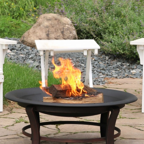 Sunnydaze Outdoor Replacement Fire Bowl for DIY or Existing Stand - 32-Inch Perspective: right