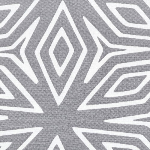 Sunnydaze 2 Outdoor Decorative Throw Pillows - 17 x 17-Inch - Gray Geometric Perspective: right