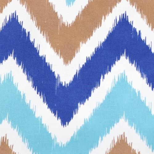 Sunnydaze 2 Outdoor Decorative Throw Pillows - 17 x 17-Inch - Chevron Bliss Perspective: right