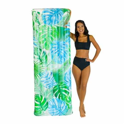 PoolCandy Palm Print Deluxe Pool Raft Perspective: right