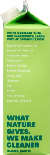 Cleancult Lemongrass Liquid Dish Soap Refill Perspective: right