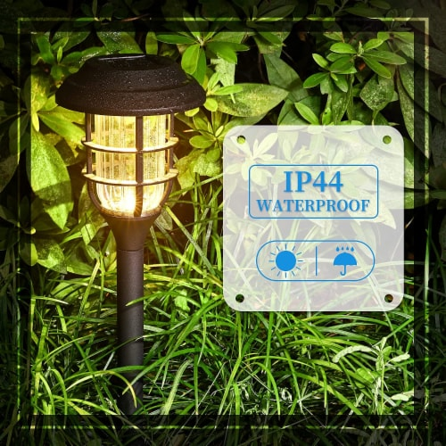 8 pk Solar Led Garden Pathway Lawn Ground Yard Light Water Proof Long lasting -Cool White Perspective: right