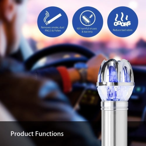 CAR AIR PURIFIER IONIZER CLEANER REFRESHER PLUGS INTO CIGARETTE  LIGHTER -BLACK Perspective: right