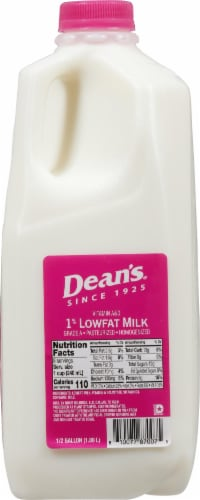 Dean's 1% Lowfat Milk Perspective: right