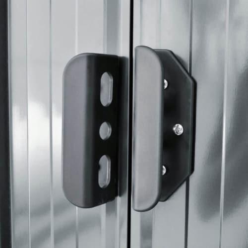 vidaXL Garden Shed Gray Metal 74.8 x48.8 x71.3 Perspective: right