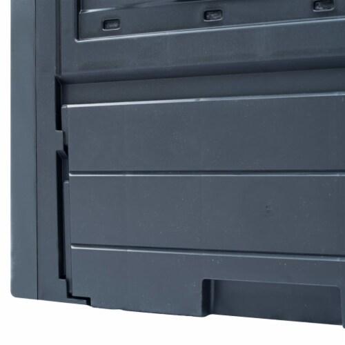 "vidaXL Garden Composter Gray 23.6""x23.6""x28.7"" 68.7 gal Perspective: right"