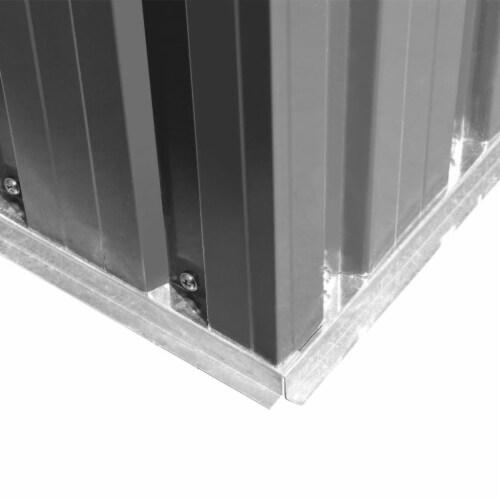 vidaXL Garden Storage Shed Gray Metal 101.2 x80.7 x70.1 Perspective: right
