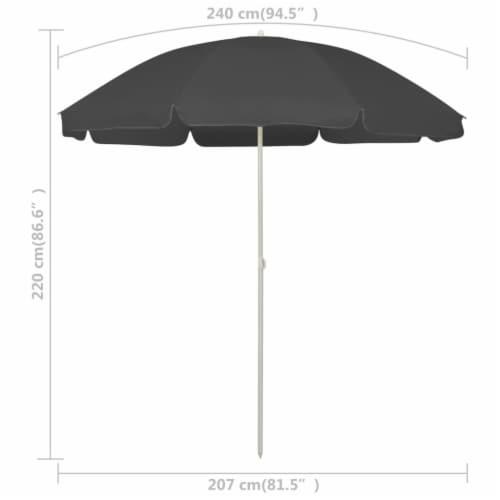 vidaXL Beach Umbrella Anthracite 94.5 Perspective: right