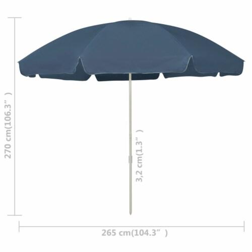 vidaXL Beach Umbrella Blue 118.1 Perspective: right