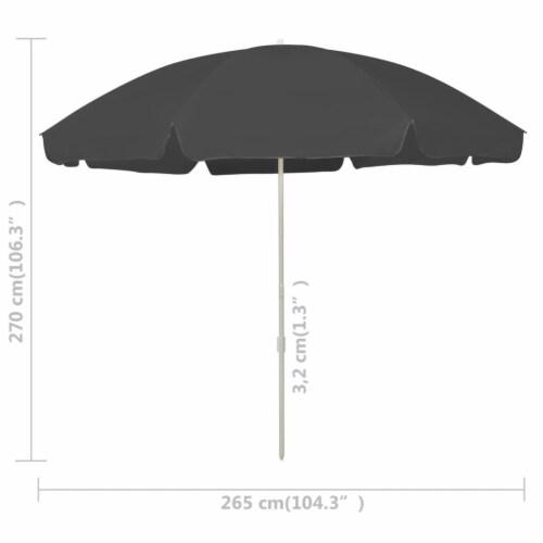 vidaXL Beach Umbrella Anthracite 118.1 Perspective: right